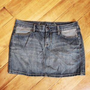 🎀3/$30 Old Navy Denim Mini Skirt Soze 8